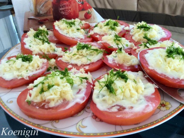 Закуска із помідорів з сиром