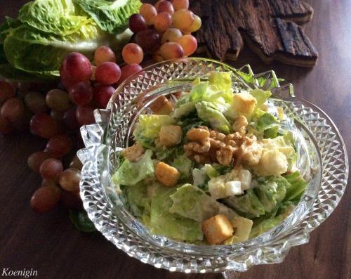 Хрустящий салат с гренками