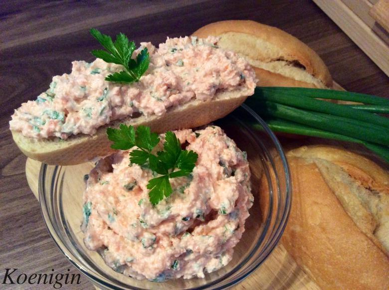 Salmon cream-pate