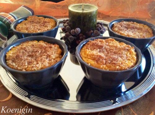 Dessert from pumpkin porridge