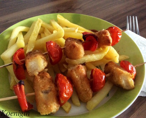 Fish shashlik for children (and not only)