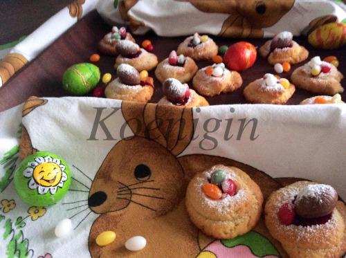 """Cookies """"Nests for rabbit"""""""