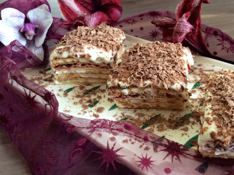 Вафельні тістечка з маскарпоне