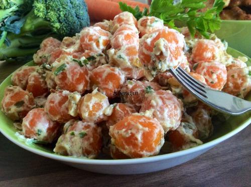 Рагу із моркви з фреш-кремом