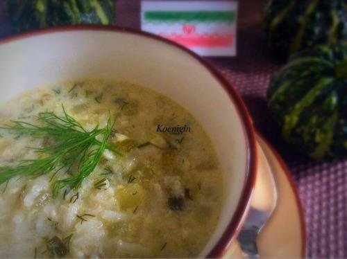 Суп из кабачков по-ирански