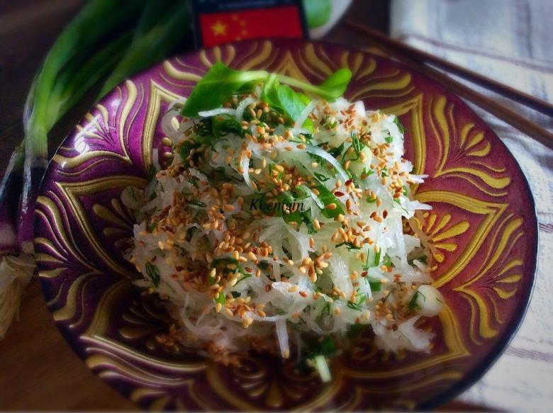 Китайский салат из редьки