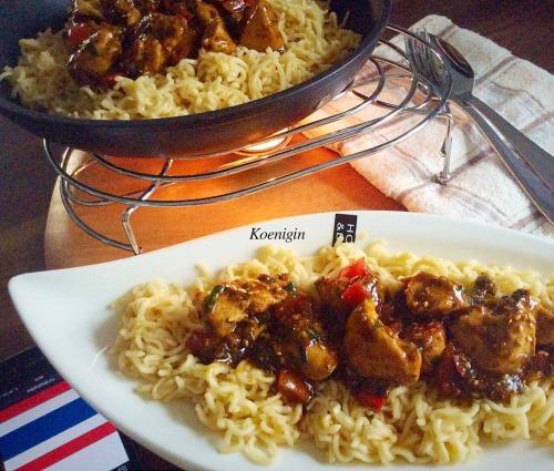 Куриное филе в медово-кунжутном соусе по-тайски