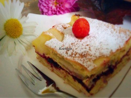 Бисквит яблочно-грушевый