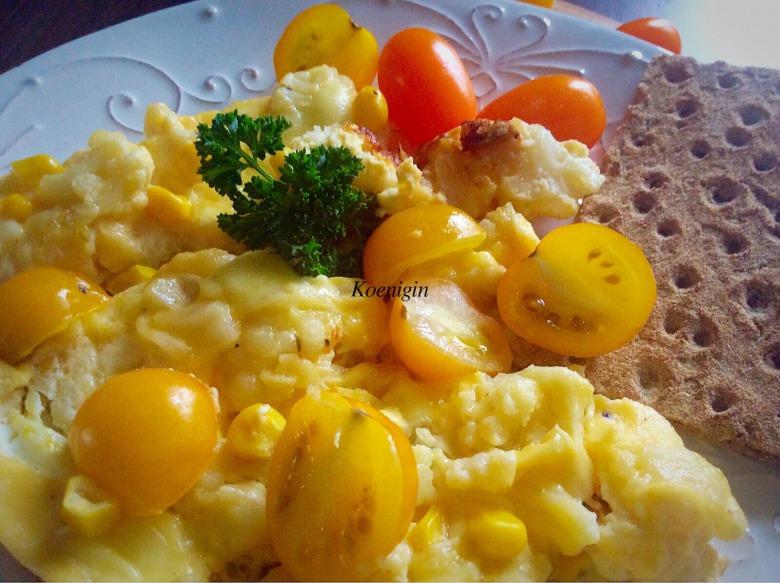Омлет з цвітною капустою