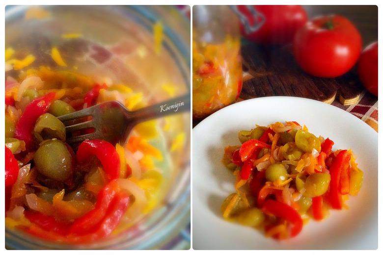 Салат із маринованих овочів з зеленими помідорами
