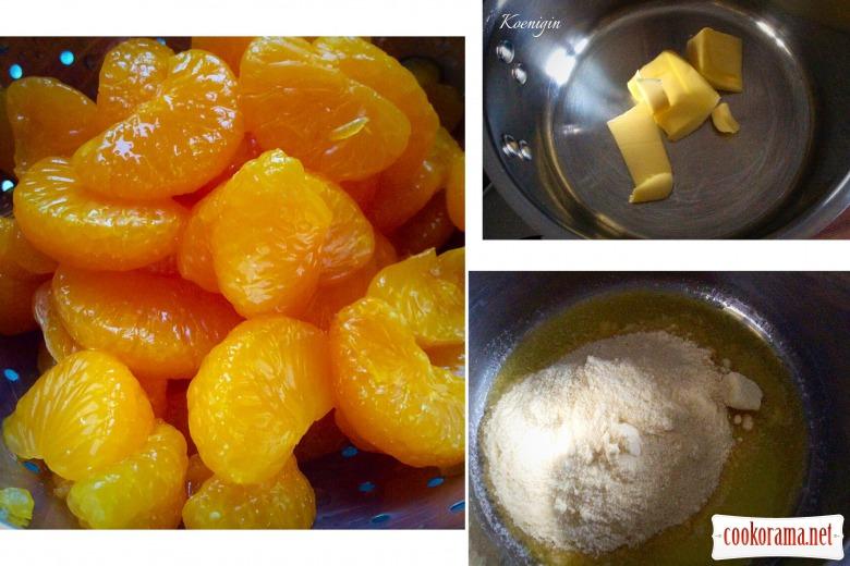 Мандариново-сметанний десерт «Зимовий сон»