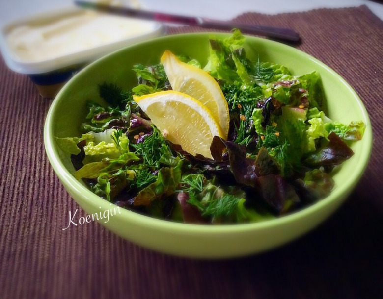 Салат із салатного листя