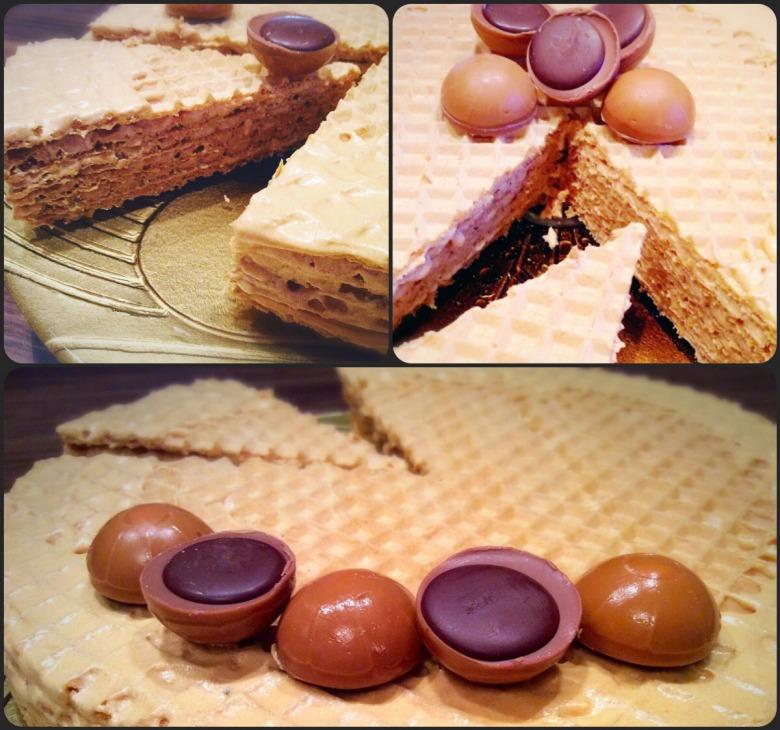 Простий вафельний торт