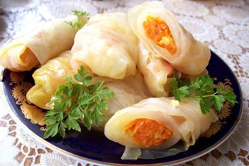 Korean style stuffed cabbage