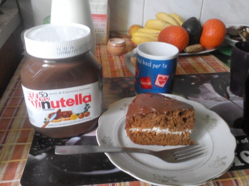 Cake with Nutella