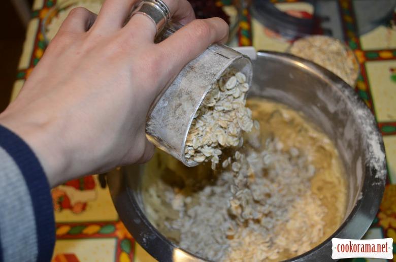 Вівсяне печиво з журавлиною та шоколадом