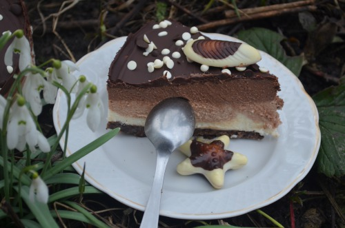 "Cheesecake ""Three chocolates"""