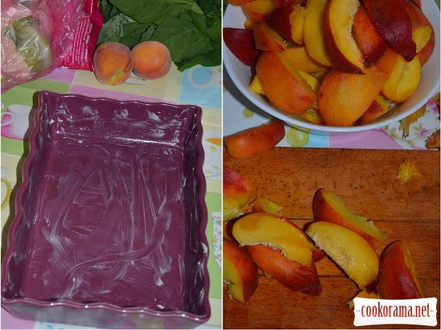 Персиковый клафути или Фруктовый омлет