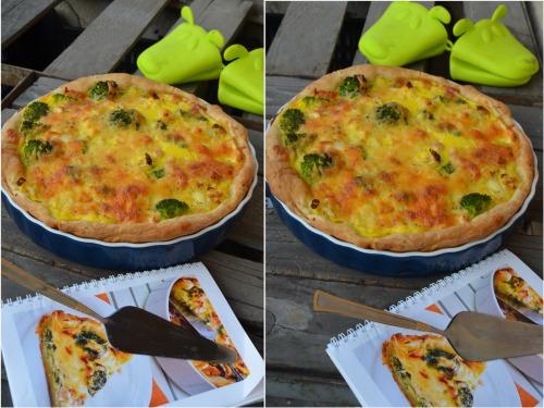 Пиріг з цвітною капустою та броколі