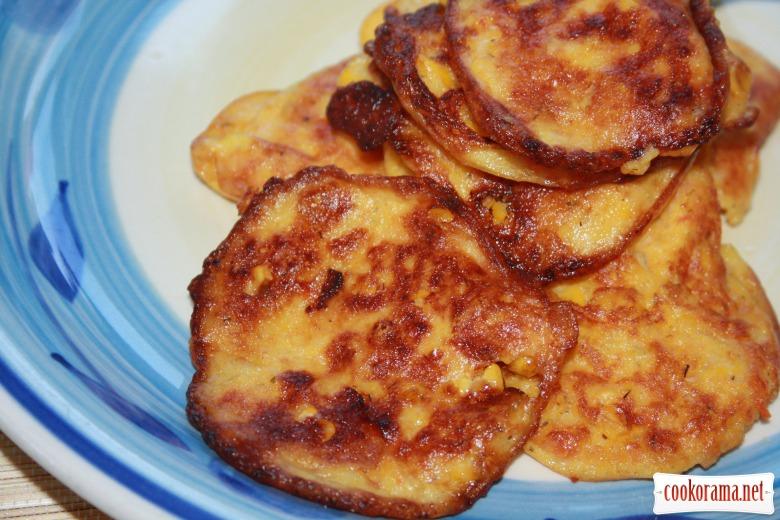 Моркв'яно- Кукурудзяні  млинці або «sweetcorn fritters»
