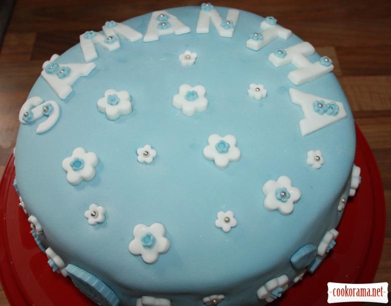 Ванільний бісквітний торт з лимонним кремом  (vanilla sponge cake with lemon buttercream icing, and lemon curd)