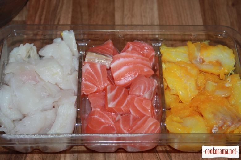 Рибні котлетки (fish cakes) з сиром та зеленню