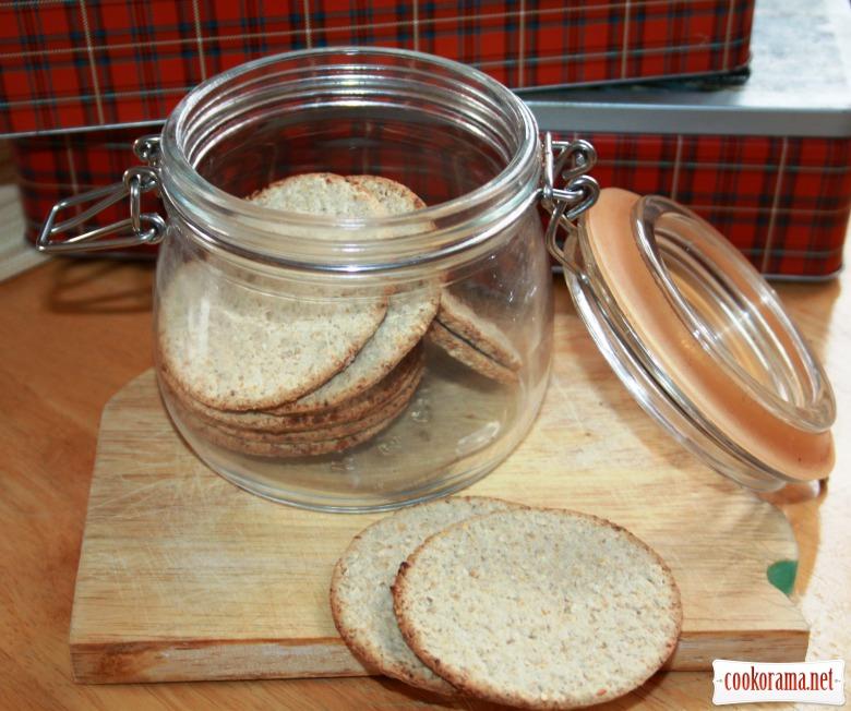 Вівсяне печиво (крекери) з ароматними травами