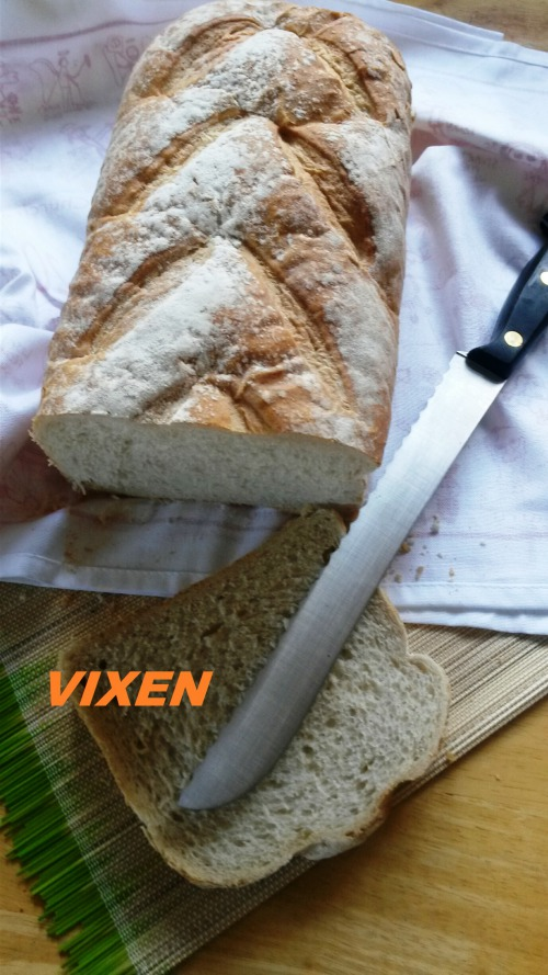 Homemade bread from apple ferment