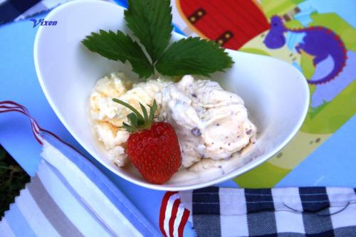 Домашнє морозиво 2 в одному: з шоколадною крихтою та лимонне