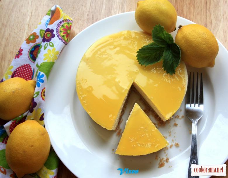 Лимонний чізкейк « Промінчик сонця» з желе