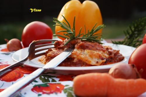 """""""Фальшивая"""" лазанья с овощами"""