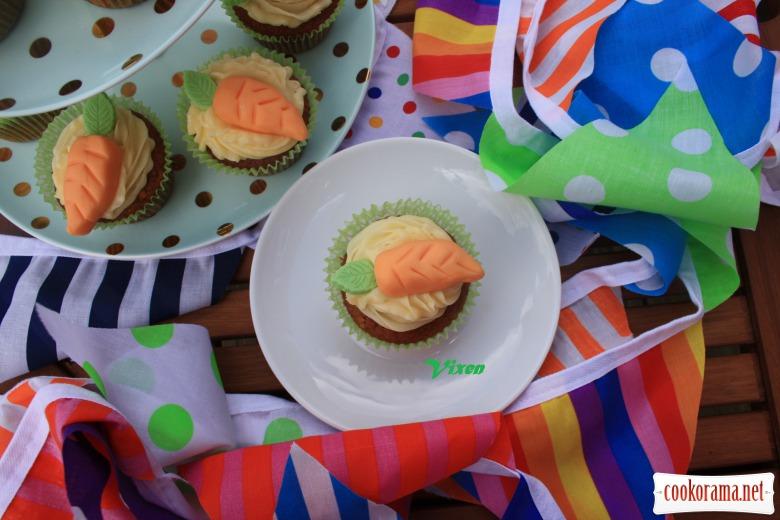 Морковные капкейки с шоколадом «Carrot cupcakes»