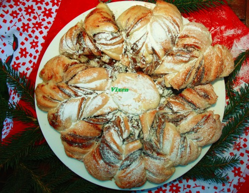 """Різдвяний Шоколадно-горіховий хліб """"Зірочка"""""""
