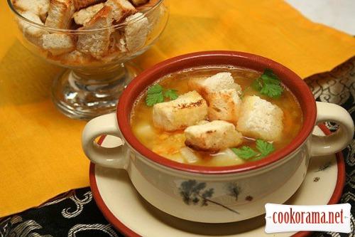 Гороховий суп з грінками