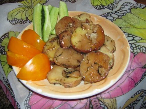 Картофель с соевым соусом