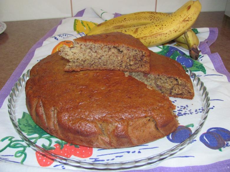 Банановый пирог с кефиром в духовке рецепт с