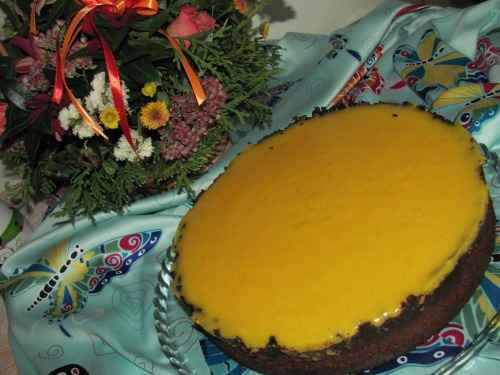 Обліпихово - шоколадний тарт