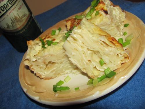 Багатошарова закуска з лаваша та бринзи