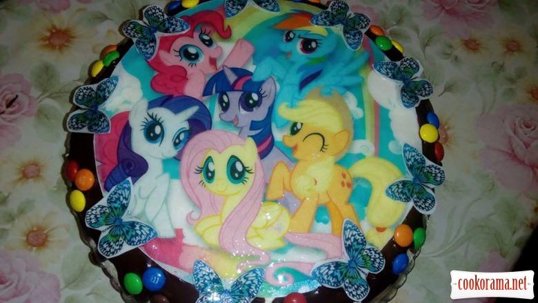 «Веселковий торт»або «Торт для донечки»