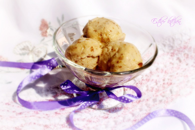 Вершково-горіхове морозиво. Semifreddo