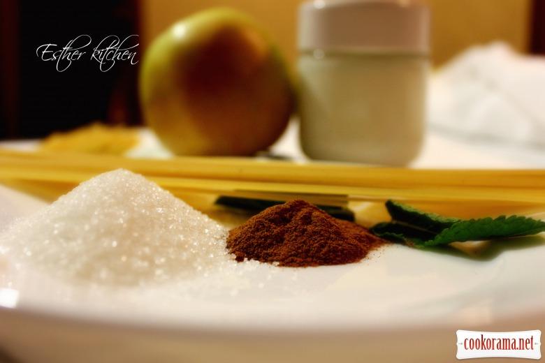 Солодка паста з фруктово-вершковим соусом «Incantato»