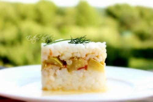Рис на завтрак с сезонными овощами