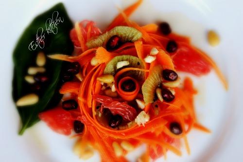 """Тальятелле з моркви. Карпатський чай. Шостий день з тижня """"детокс-меню""""."""