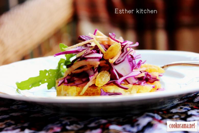 Салат из краснокочанной капусты с горсткой закарпатских янтарных сокровищ
