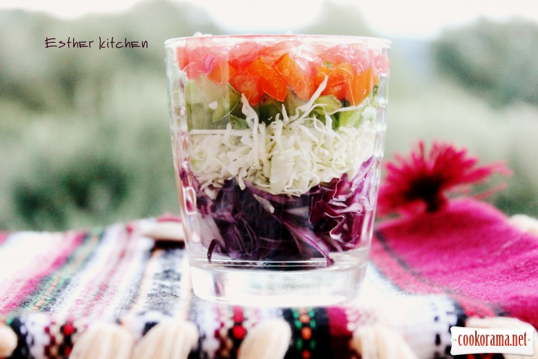 Салат « Вітамінний мікс в склянці»
