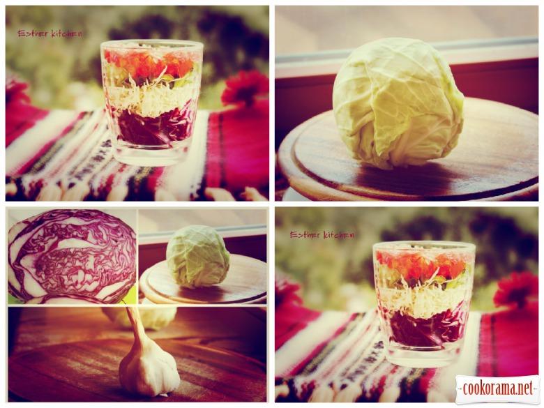 Салат «Вітамінний мікс в склянці»