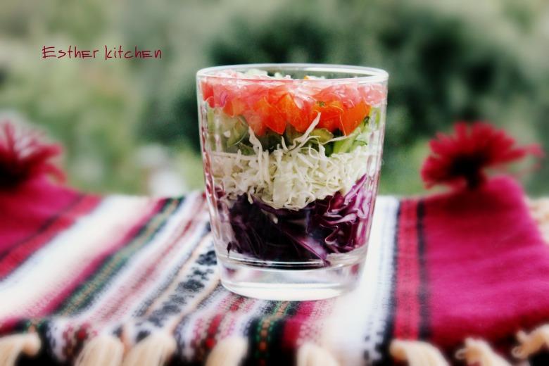 """Салат """"Вітамінний мікс в склянці"""""""