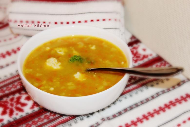 Гороховый суп с чесноком