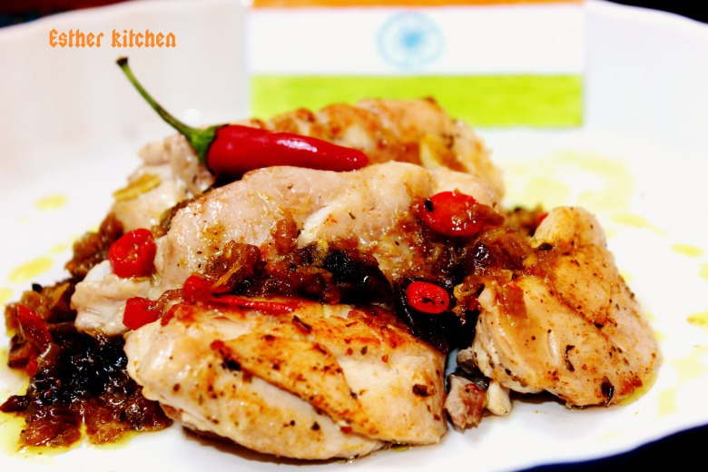 Курица с остринкой и восточными пряностями