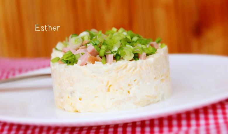 Салат ніжний з сирним соусом